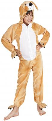 B88050 braun Kinder Mädchen Damen Herren Hunde Kostüm Overall - 3
