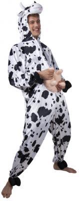 B88002 Kuh Kostüm Overall Kinder Mädchen Junge Damen Herren - 2