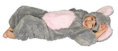 K332527 Maus Kostüm Overall grau - 1