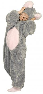 K332527 Maus Kostüm Overall grau - 2