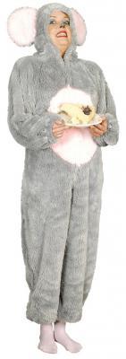 K332527 Maus Kostüm Overall grau - 4
