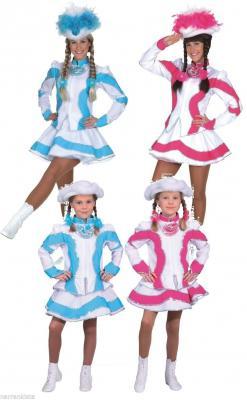 O5194 türkis-weiß Kinder Funkemariechen-Tanzmariechen Kostüm-Uniform - 1