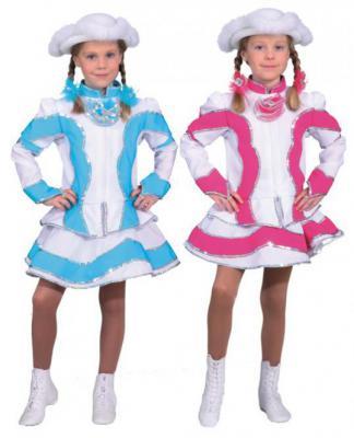 O5194 türkis-weiß Kinder Funkemariechen-Tanzmariechen Kostüm-Uniform - 2