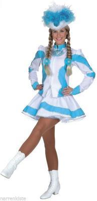 O5194 türkis-weiß Kinder Funkemariechen-Tanzmariechen Kostüm-Uniform - 4