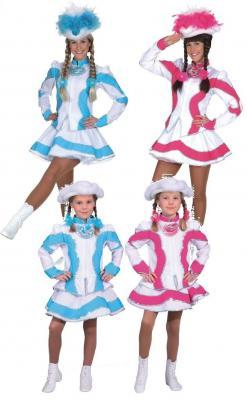 O9661 türkis-weiß Damen Funkemariechen-Tanzmariechen Kostüm-Uniform - 1