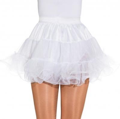 O40025-O40020 Petticoat weiß Kinder-Damen Unterrock Tüllrock 3 lagig - 1