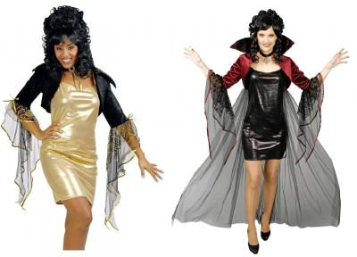 K31250701 schwarz-glänzend Damen Partykleid Discokleid - 1