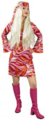 K31250642 Damen Hippie Kleid Discokleid - 1
