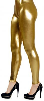 K84260613 Damen Leggings goldfarben Discohose