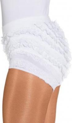 O40066 weiß Kinder Mädchen Damen Spitzenhose-Rüschenhose für Mariechenkostüm - 1