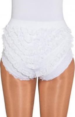 O40066 weiß Kinder Mädchen Damen Spitzenhose-Rüschenhose für Mariechenkostüm - 2