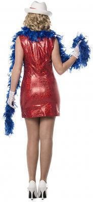 L3201804 rot Damen Glimmer Kleid Discokleid - 1