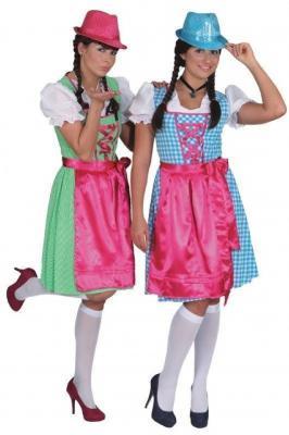 O9626 grün-pink Damen Dirndl Marie Trachtenkleid - 1