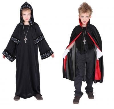 O5085 schwarz Kinder Vampirumhang Draculaumhang - 1