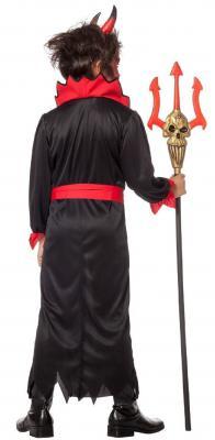 W3868 schwarz-rot Kinder Teufel Vampirkostüm - 2