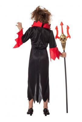 W3869 schwarz-rot Kinder Vampir Teufelkostüm - 2