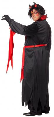 W5869 schwarz-rot Herren Vampirkostüm Teufel - 2