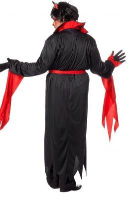W5869 schwarz-rot Herren Vampirkostüm Teufel - 3
