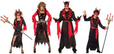 W5869 schwarz-rot Herren Vampirkostüm Teufel - 4