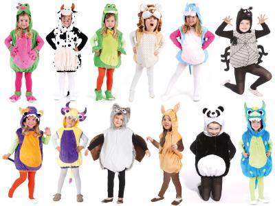 Oh2001-104-110 türkis-rosa Kinder Nashorn Weste Kostüm Gr.104-110 - 1