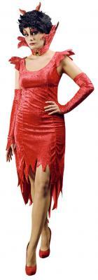 K31250413 rot damen Teufelskleid Vampirkleid - 1
