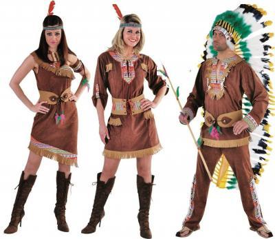 M213236 braun Herren Indianerkostüm Apachekostüm - 1