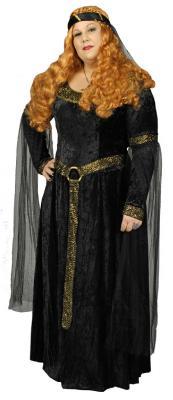 K31250843 schwarz Damen Prinzessinkostüm Burgfraukostüm - 1