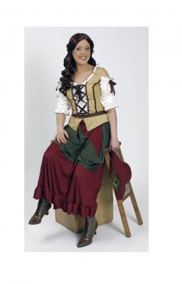 K31250424 Damen Travernen Mädchen Kellnerin Mittelalterkostüm - 1