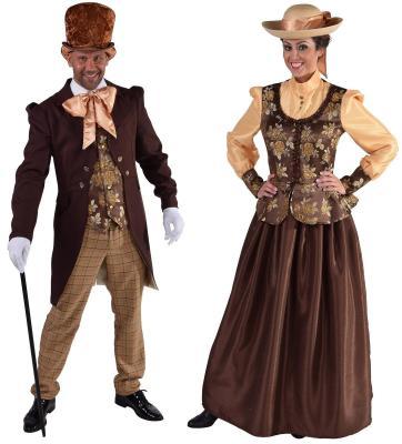 M216171 braun Damen Rokoko Kostüm Viktorianische Dame - 1