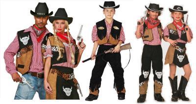 W3164 schwarz-braun Kinder Cowgirl Kostüm Rodeo Lady - 1