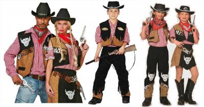 W5163 schwarz-braun Herren Cowboy Weste Rodeo Weste - 1