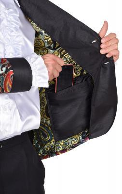 M218287-27 orange Herren Anzug Smoking Sakko Hose und Krawatte - 2