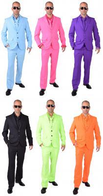 M218287-13 hell-blau Herren Anzug Smoking Sakko Hose und Krawatte - 3