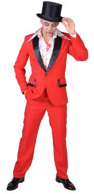 M218260 weiß-rot Herren blutiges Hemd Dokter Zombie Kostüm - 1