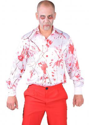 M218260 weiß-rot Herren blutiges Hemd Dokter Zombie Kostüm - 2