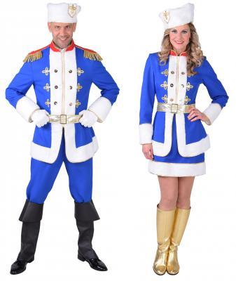 M218234 blau-weiß Herren Kosaken Kostüm Kosake - 1