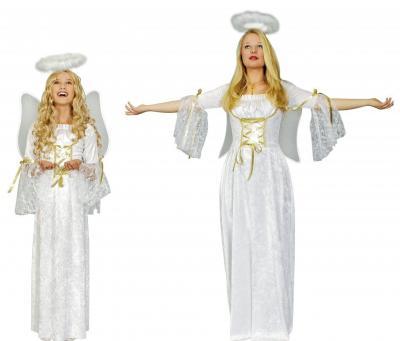 K31250516 weiß gold Engelchen Kleid Engel Kostüm - 1
