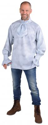 M218298-39 grau Herren Piraten-Halloween-Mittelalter-Gothic Hemd mit Jabot - 1