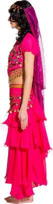 O9975 pink Damen Bauchtanzkostüm Haremsdame Bollywood Kostüm - 1