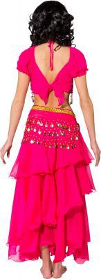 O9975 pink Damen Bauchtanzkostüm Haremsdame Bollywood Kostüm - 2