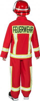 O5287 rot Kinder Junge Feuerwehr Kostüm Feuerwehrjunge Brandmeister - 1