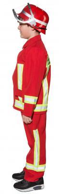 O5287 rot Kinder Junge Feuerwehr Kostüm Feuerwehrjunge Brandmeister - 2