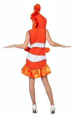 L3202280 orange-weiß Damen Clownfisch Nemo Fisch Kostüm - 2