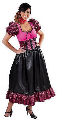 M215111-4 pink-schwarz Damen Saloongirl Cowgirl - 1