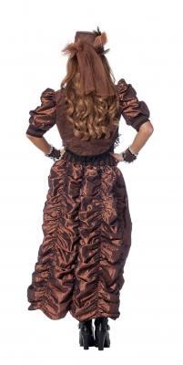 W4403 braun-schwarz Damen Rokoko Steampunk Burlesque Kleid - 2