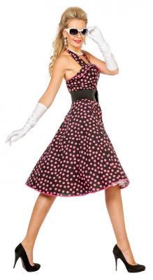 W4532 schwarz-pink Damen Petticoatkleid Boogie Woogie - 1
