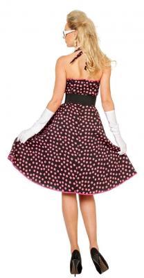 W4532 schwarz-pink Damen Petticoatkleid Boogie Woogie - 2