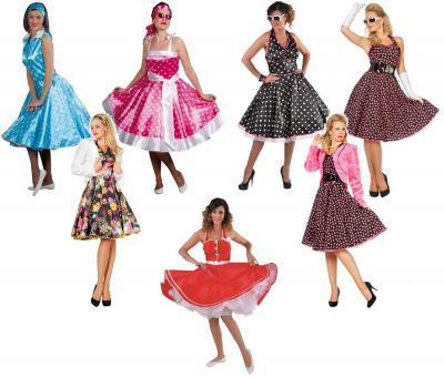W4532 schwarz-pink Damen Petticoatkleid Boogie Woogie - 4