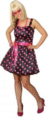 O9413 schwarz-pink Damen Boogie Woogie Ballonkleid - 1
