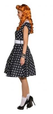 O9215 schwarz-weiß Damen Rockabilly Punktekleid - 2